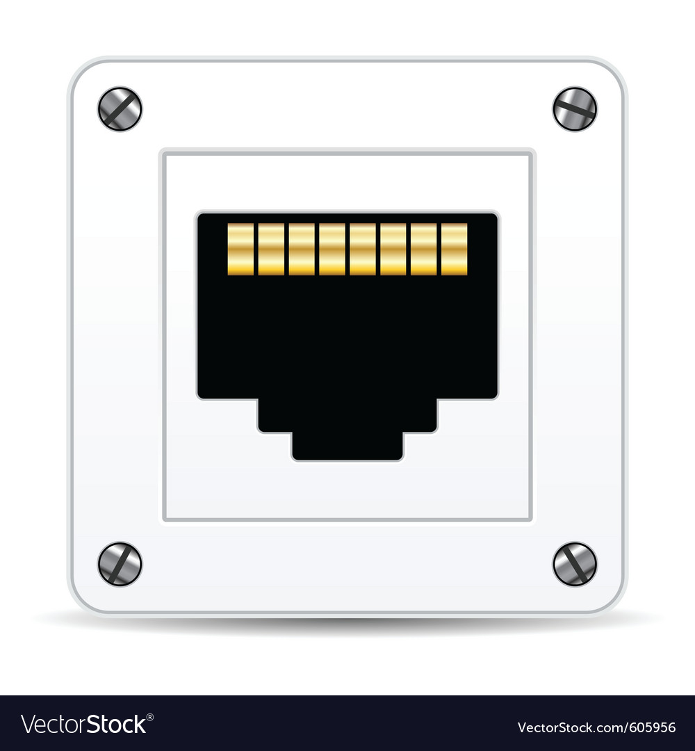 Network plug vector | Price: 1 Credit (USD $1)