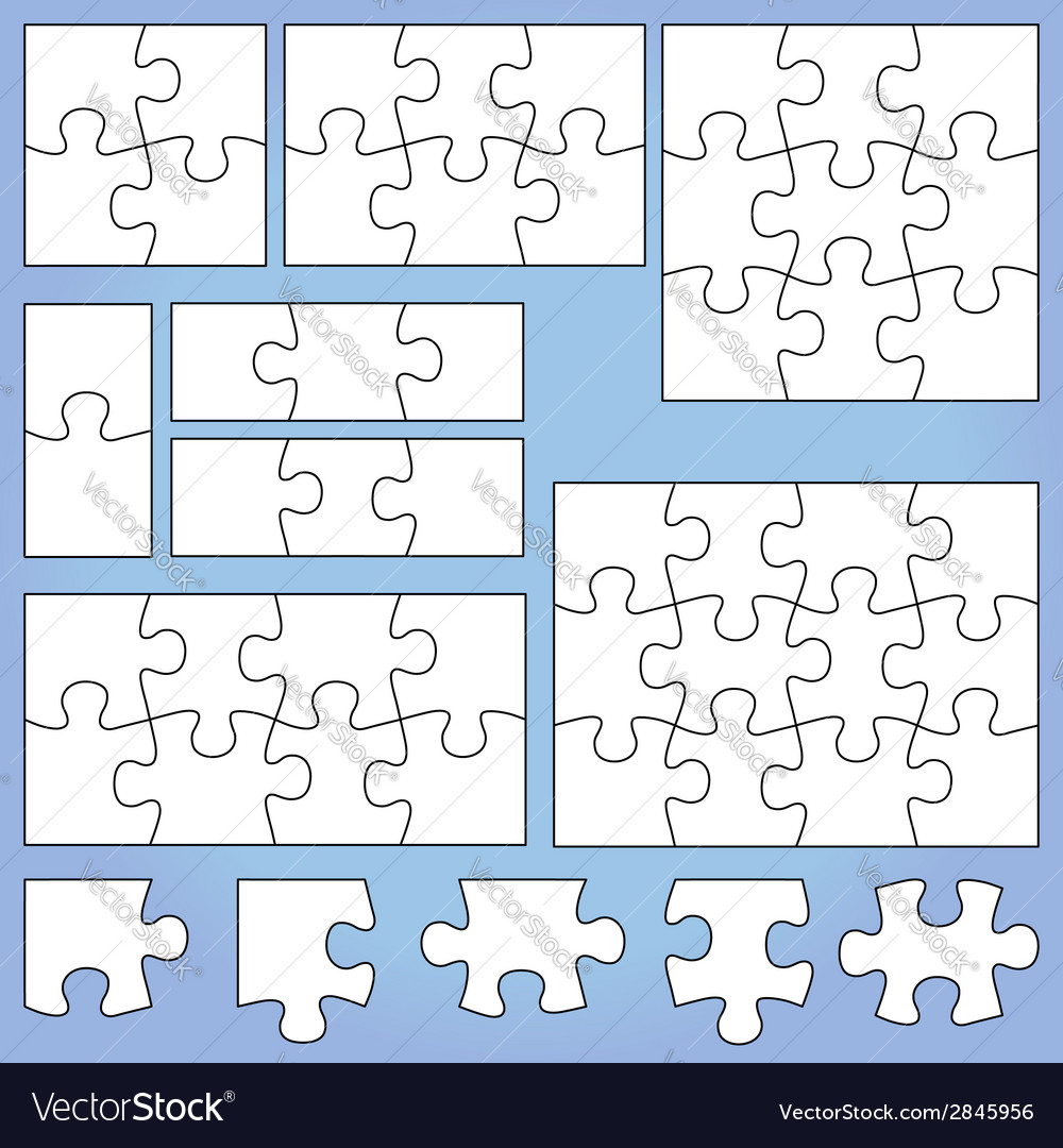 Puzzle set vector | Price: 1 Credit (USD $1)
