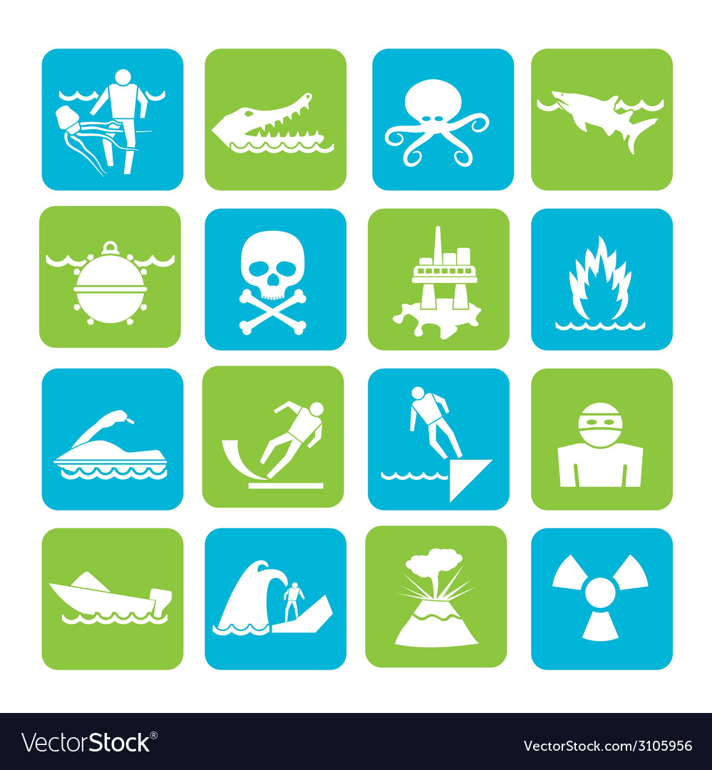 Silhouette warning signs for dangers vector | Price: 1 Credit (USD $1)
