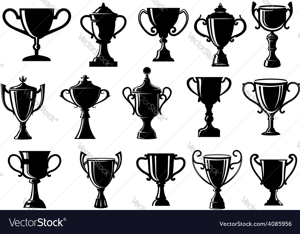 Sport and achievement trophy cups vector | Price: 1 Credit (USD $1)