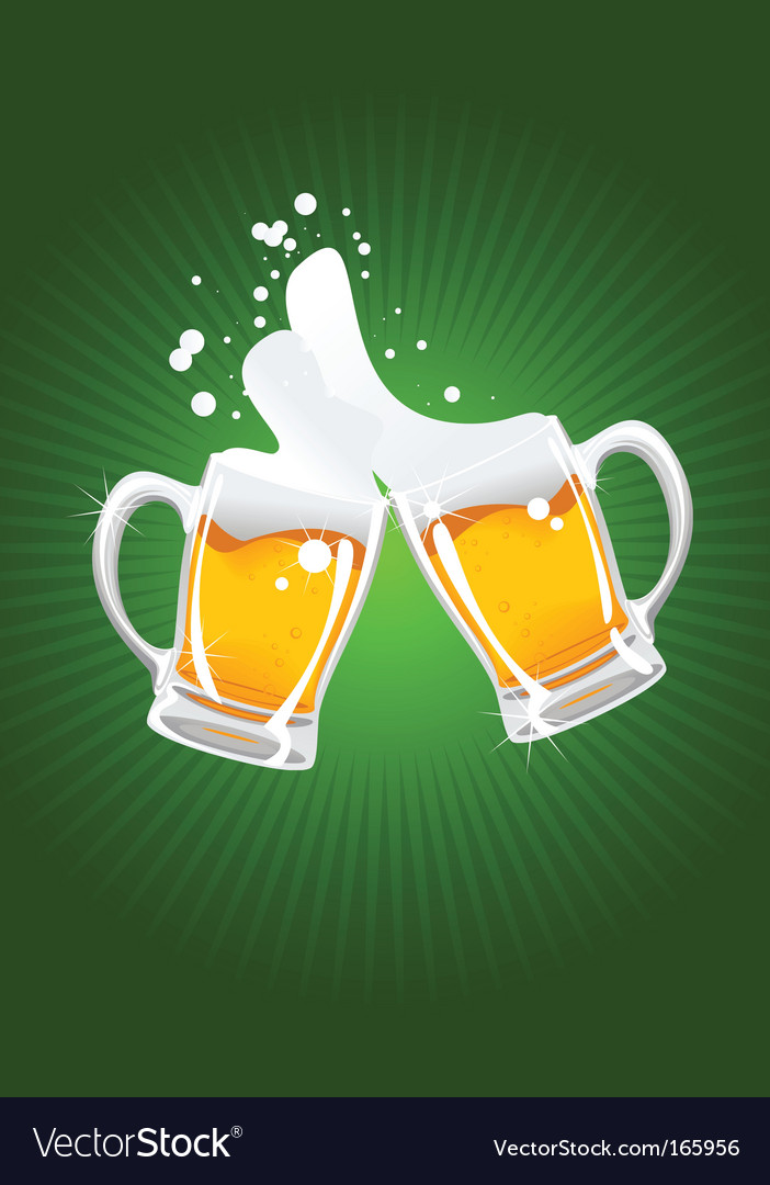 Two beer mug vector | Price: 1 Credit (USD $1)