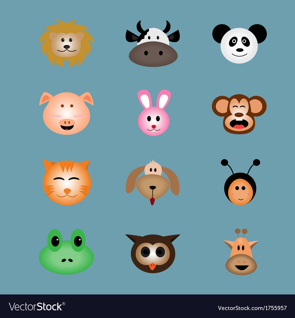 Animal face icon vector | Price: 1 Credit (USD $1)