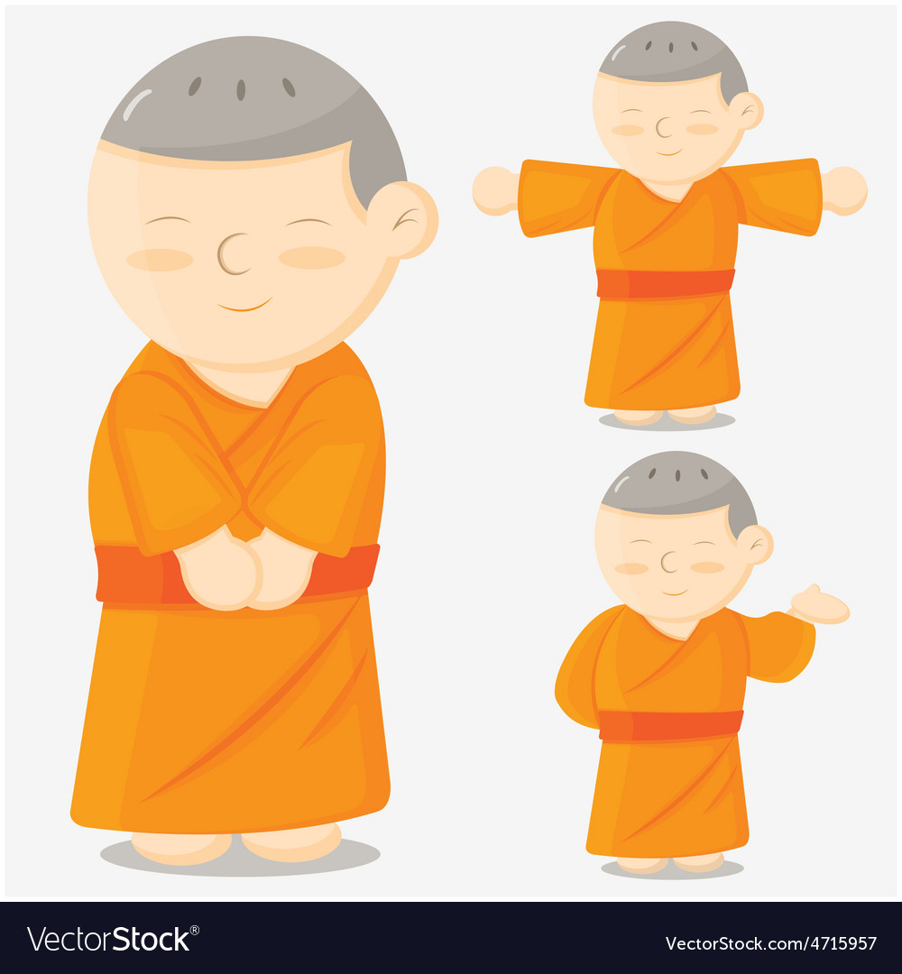 Monk cartoon vector | Price: 1 Credit (USD $1)