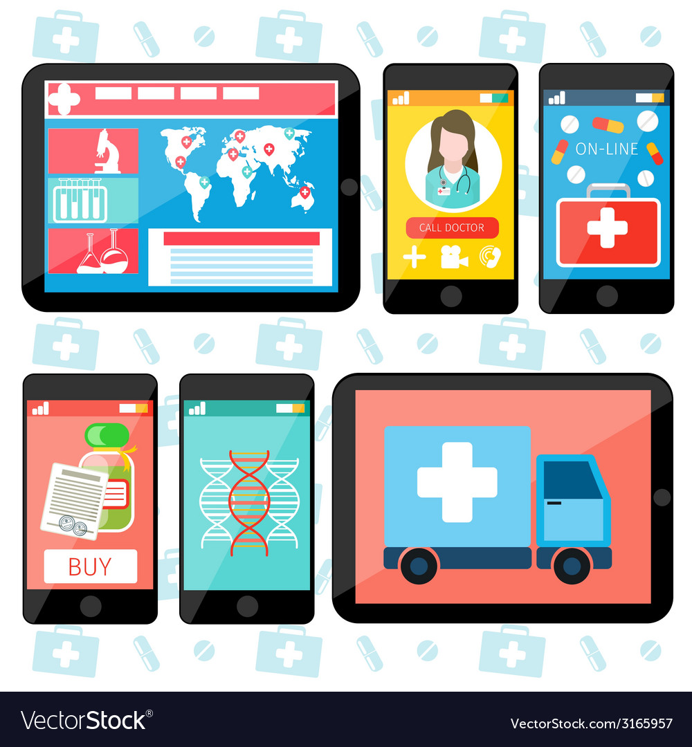 Online medical services vector | Price: 1 Credit (USD $1)