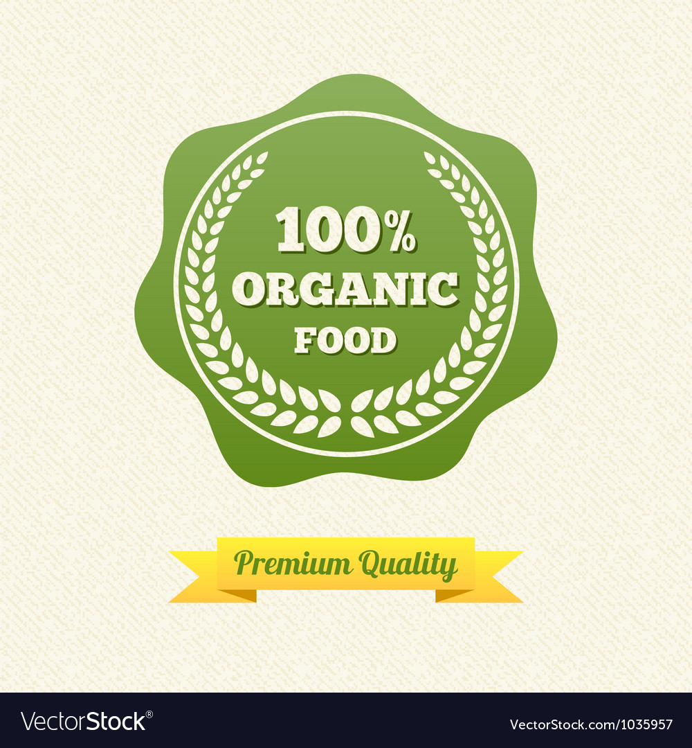 Organic food label vector | Price: 1 Credit (USD $1)