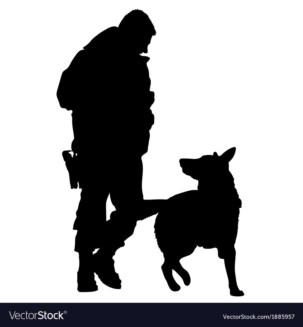 Police dog silhouette 5 vector | Price: 1 Credit (USD $1)