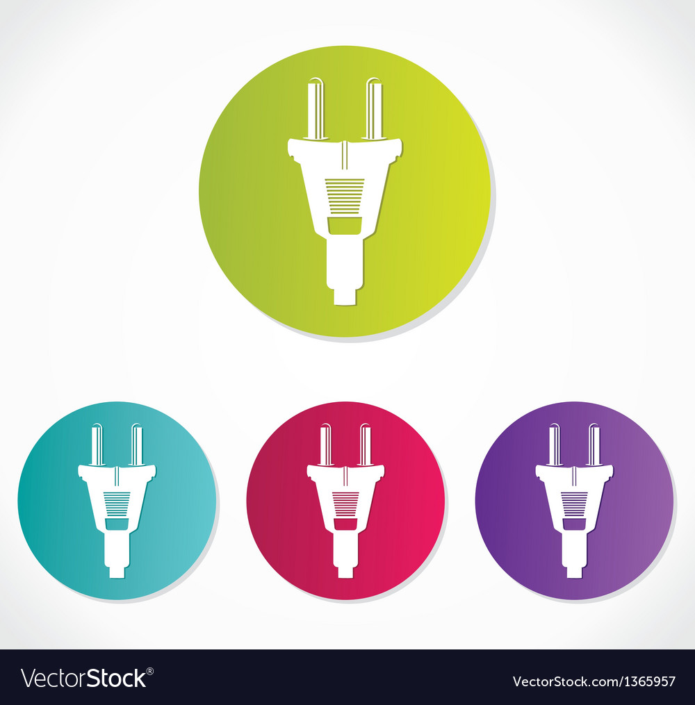 Power plug - cord icon vector | Price: 1 Credit (USD $1)