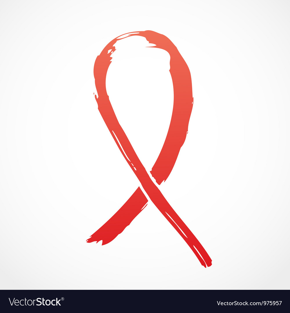 Red grunge support ribbon vector | Price: 1 Credit (USD $1)