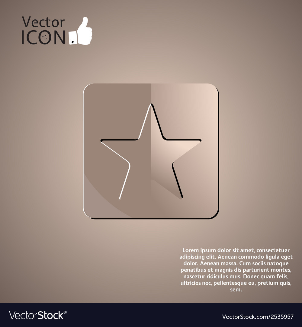 Star button on the background vector | Price: 1 Credit (USD $1)