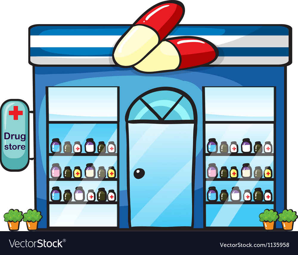 A drug store vector | Price: 1 Credit (USD $1)
