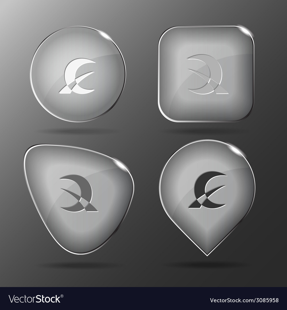 Abstract monetary sign glass buttons vector | Price: 1 Credit (USD $1)
