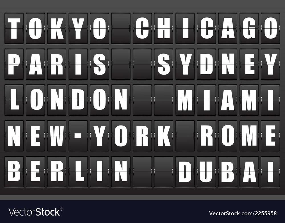 Airport information board vector   Price: 1 Credit (USD $1)