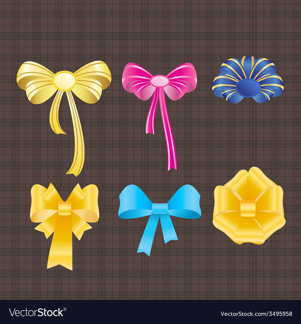 Bows and ribbons vector | Price: 1 Credit (USD $1)