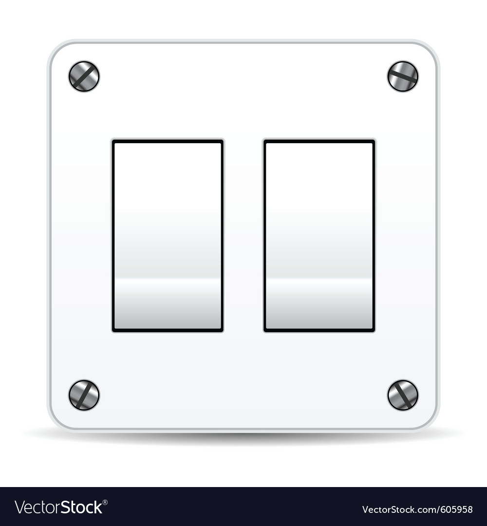 Dual light switch vector | Price: 1 Credit (USD $1)