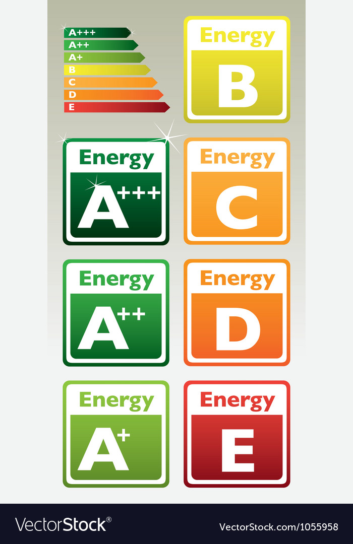 Energy signs vector | Price: 1 Credit (USD $1)