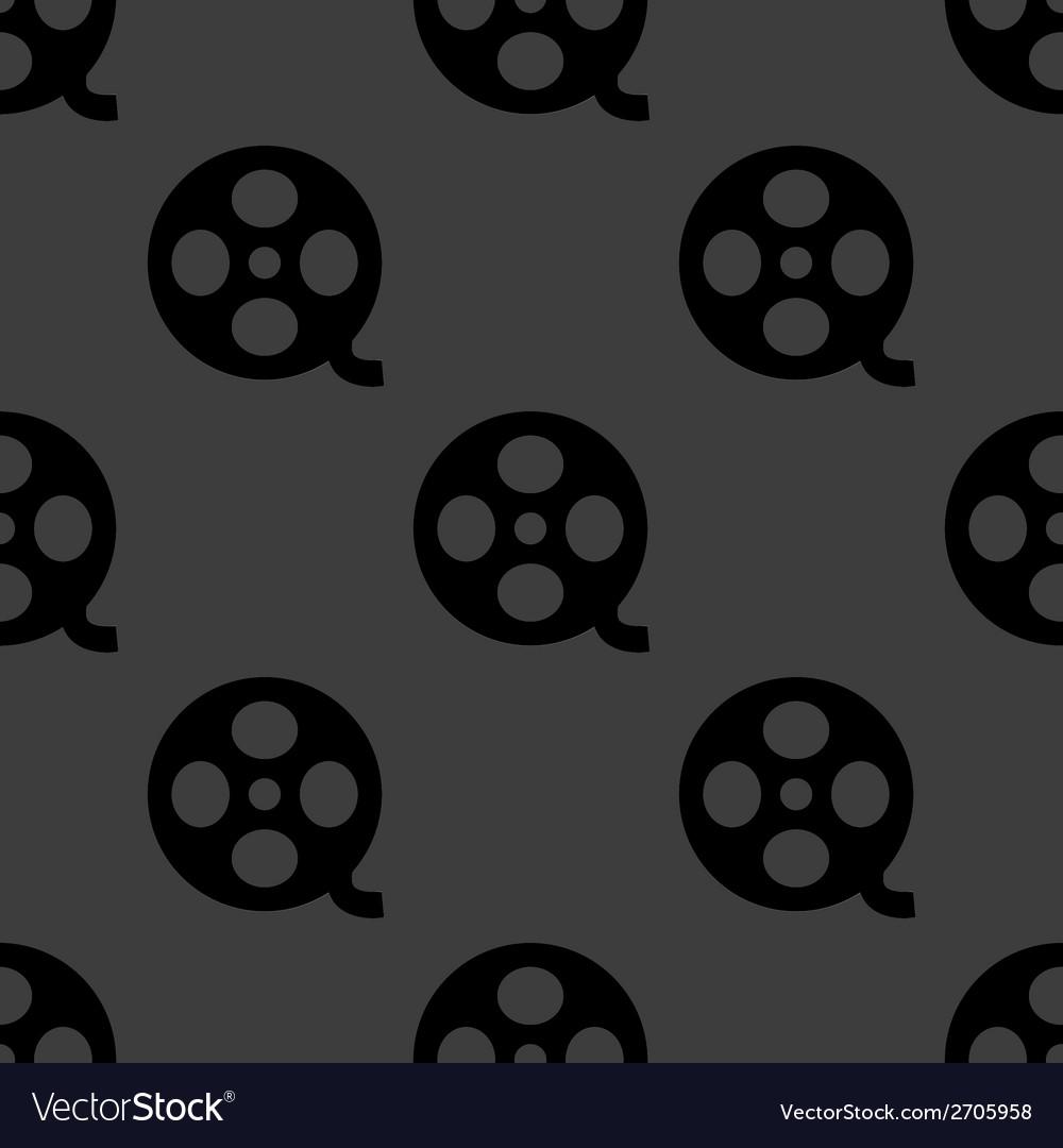 Film web icon flat design seamless pattern vector | Price: 1 Credit (USD $1)