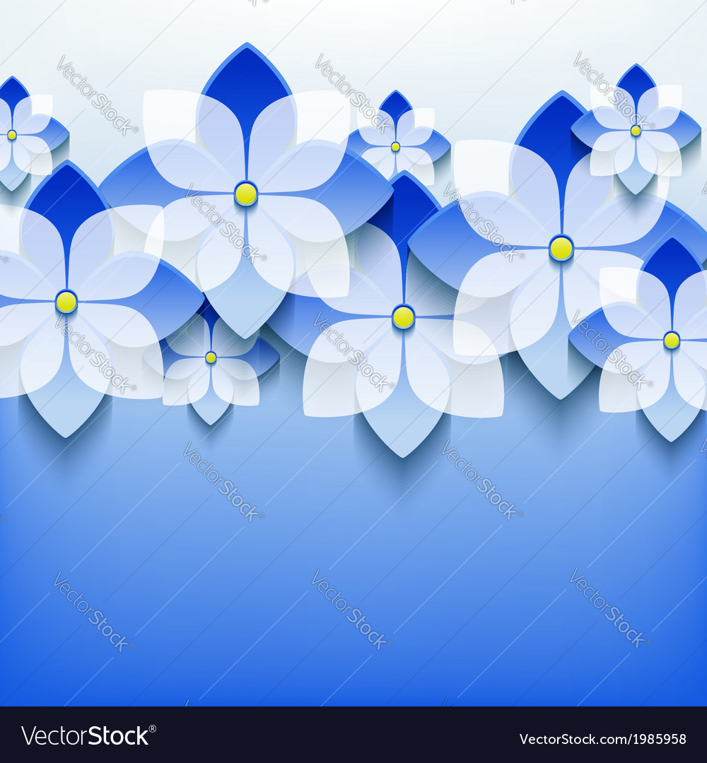 Floral lace background with 3d flower vector | Price: 1 Credit (USD $1)