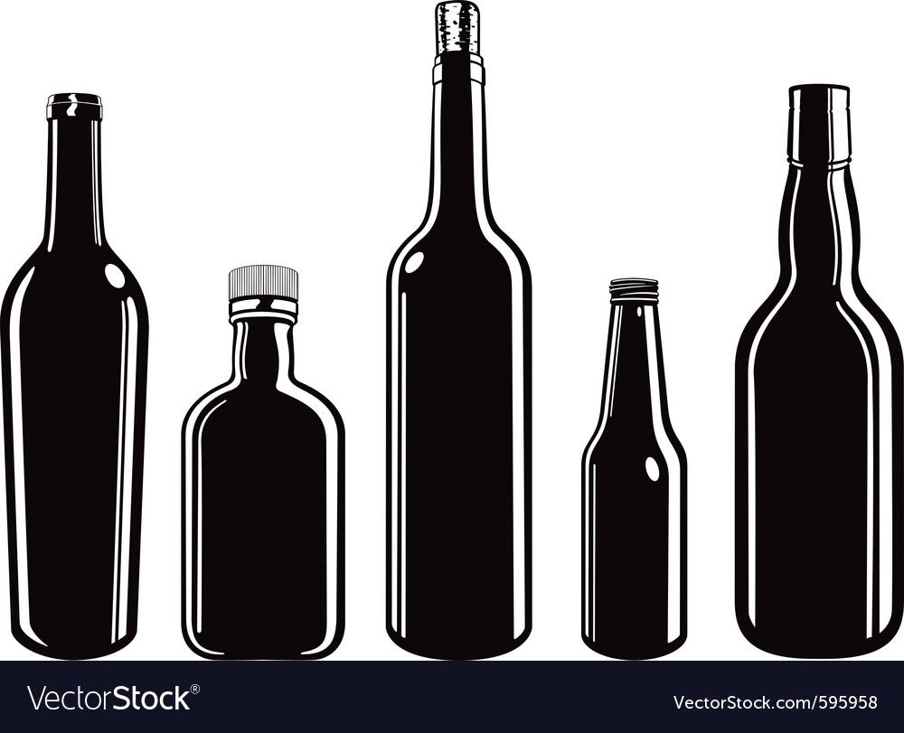 Glass bottles vector   Price: 1 Credit (USD $1)