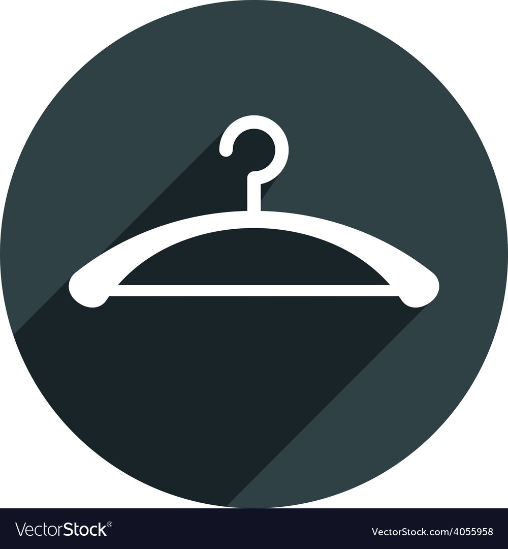 Hanger icon isolated vector   Price: 1 Credit (USD $1)