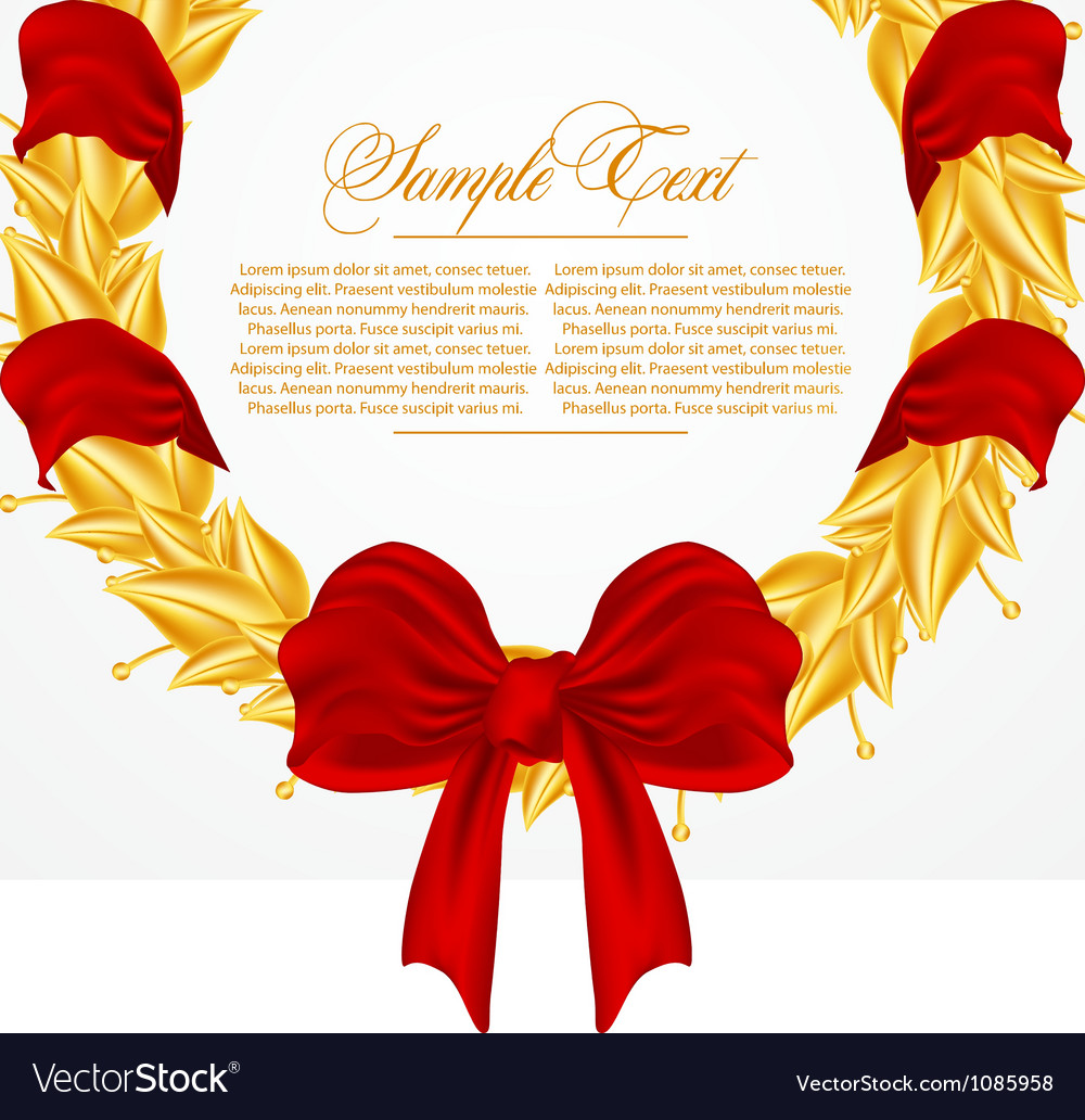 Laurel wreath vector | Price: 1 Credit (USD $1)