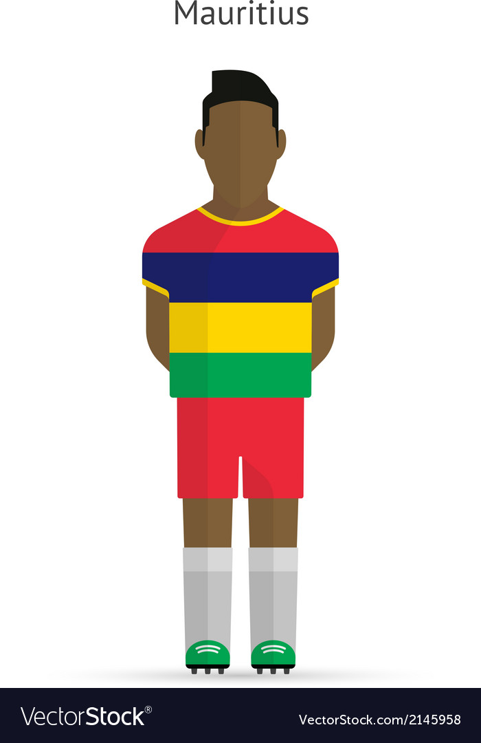 Mauritius football player soccer uniform vector | Price: 1 Credit (USD $1)
