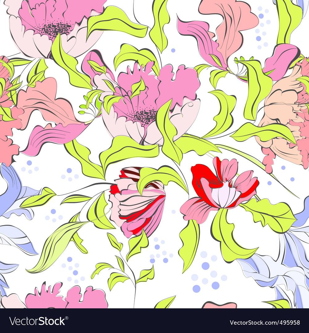 Summer seamless wallpaper vector   Price: 1 Credit (USD $1)