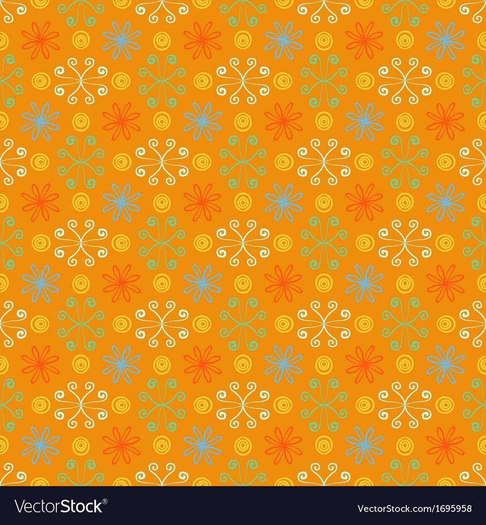 Summer simple and bright pattern with flowers vector | Price: 1 Credit (USD $1)