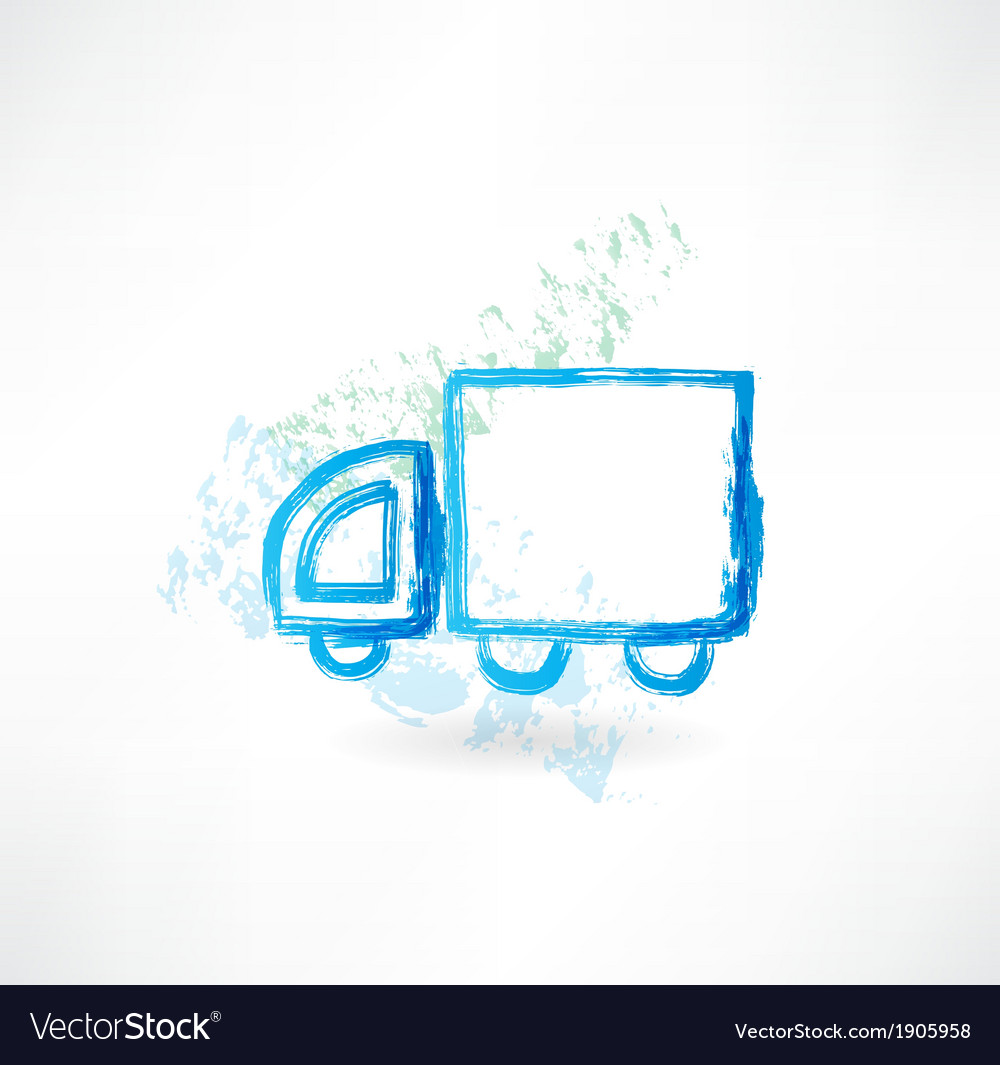 Trucking grunge icon vector | Price: 1 Credit (USD $1)