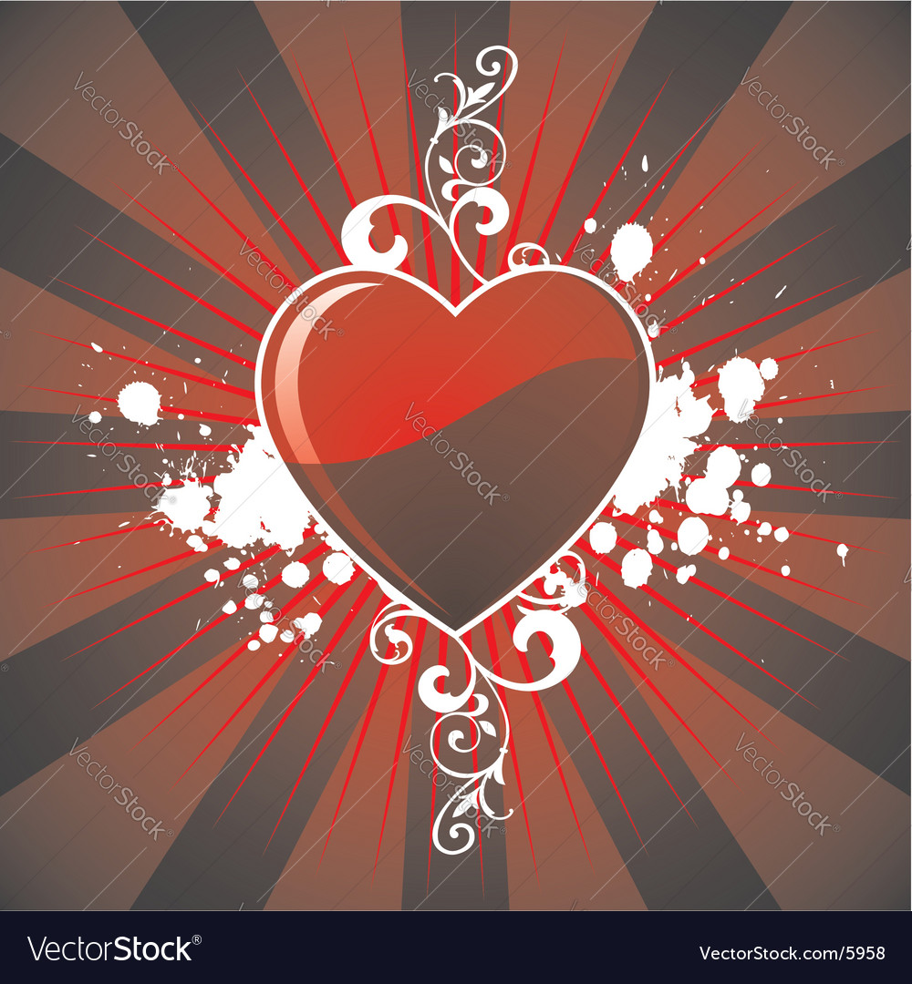 Valentines day hearth vector | Price: 1 Credit (USD $1)