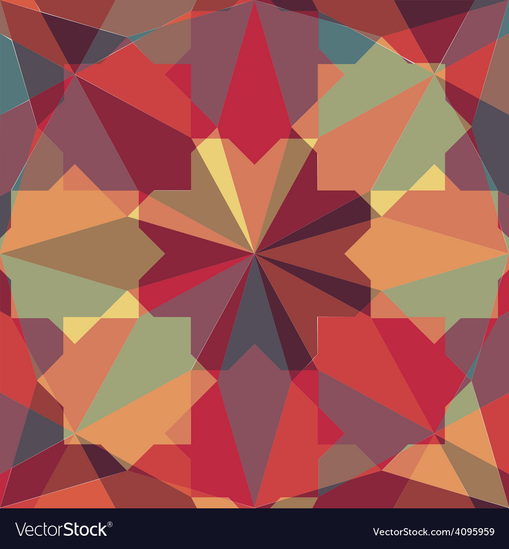 Abstract retro geometric pattern vector | Price: 1 Credit (USD $1)