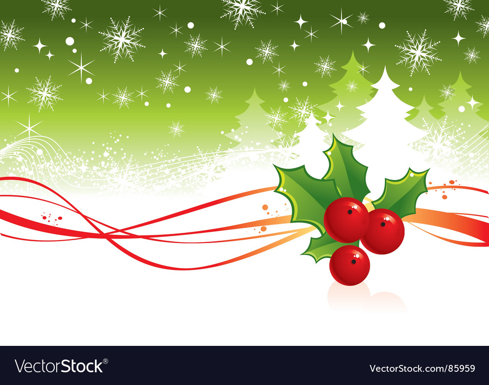 Christmas background with berry vector | Price: 1 Credit (USD $1)