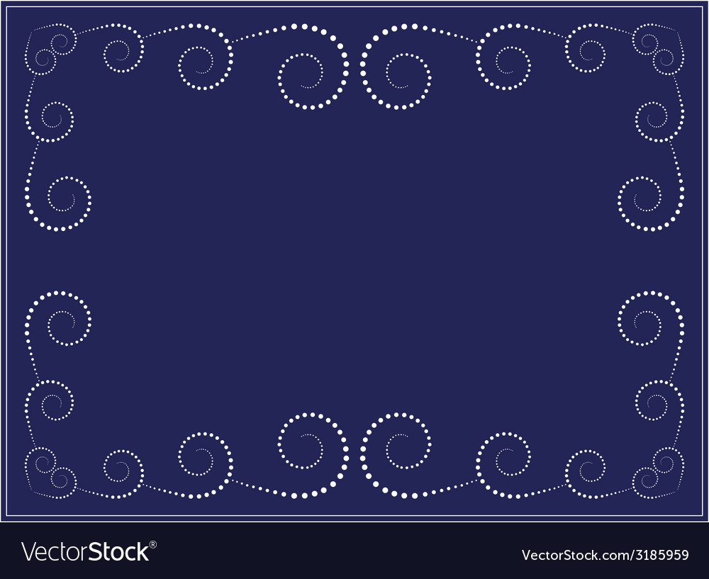 Dots swirl frame vector | Price: 1 Credit (USD $1)