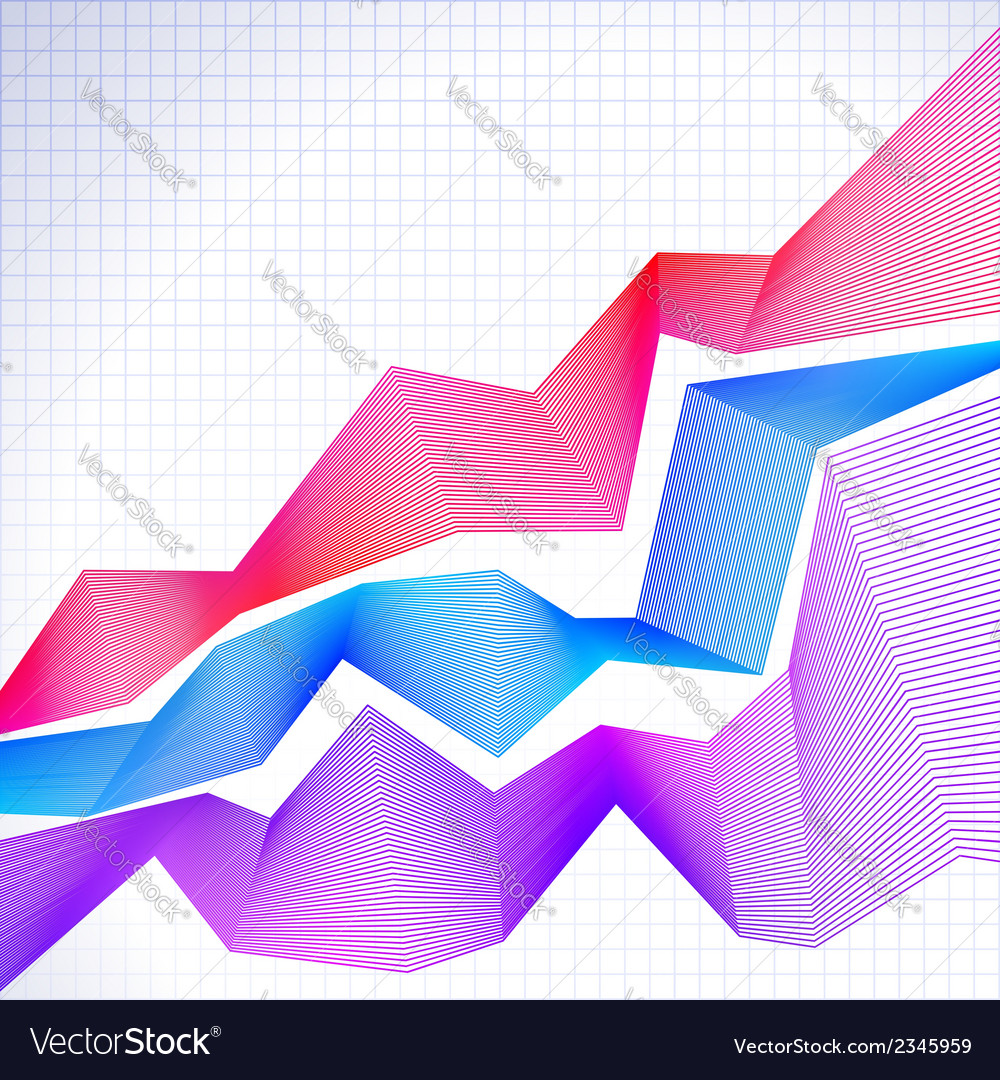 Infographic chart with blended graphs vector | Price: 1 Credit (USD $1)