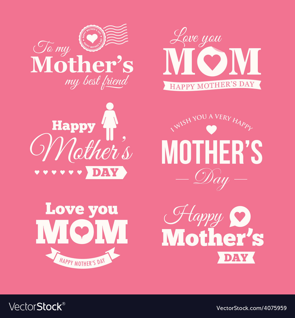 Mothers day logo vector | Price: 1 Credit (USD $1)