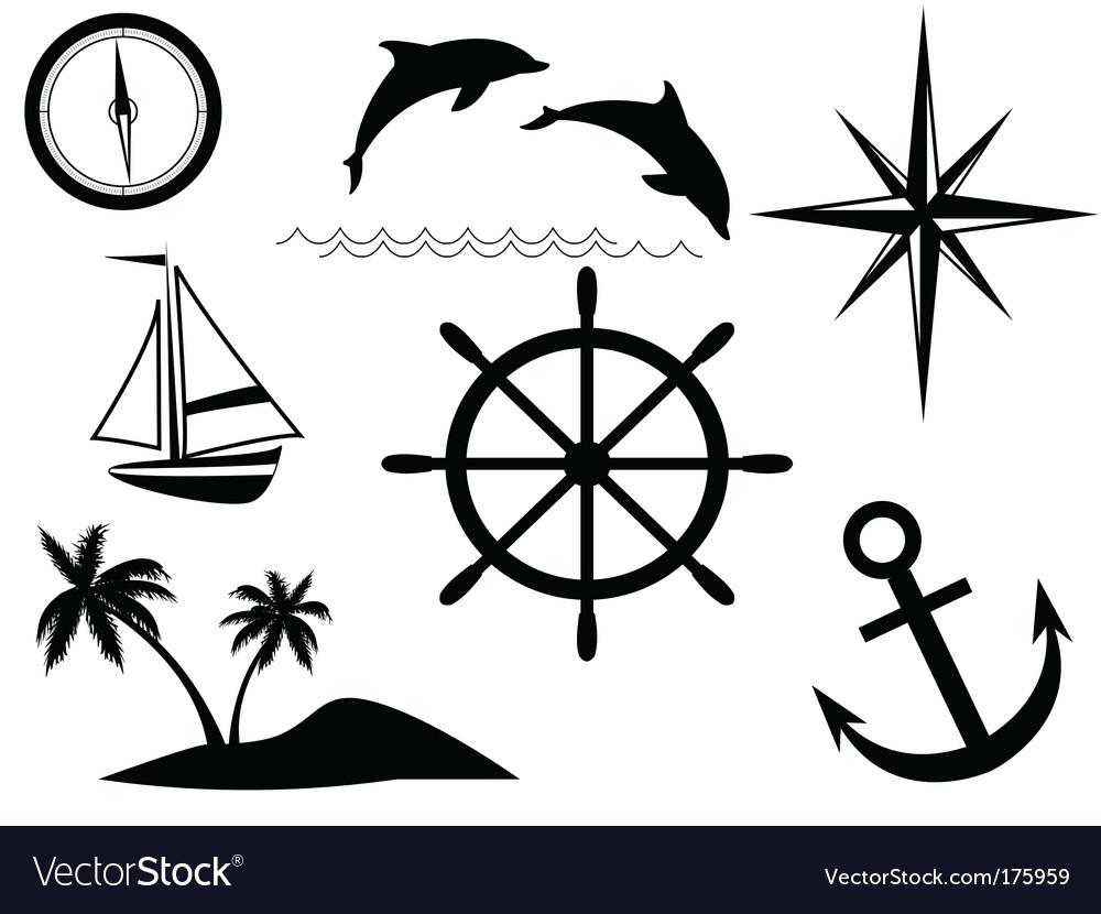 Sea signs vector | Price: 1 Credit (USD $1)