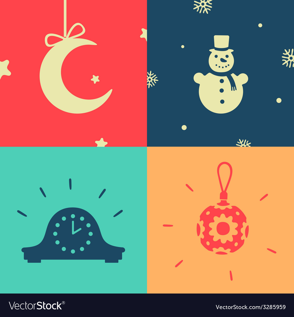 Set of symbols the new year vector | Price: 1 Credit (USD $1)