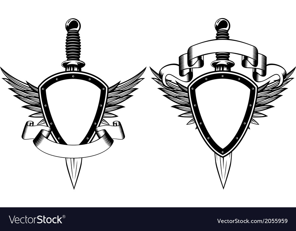 Shield and dagger vector | Price: 1 Credit (USD $1)