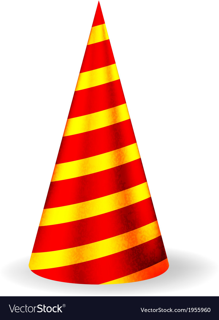 Bright festive party hat vector | Price: 1 Credit (USD $1)