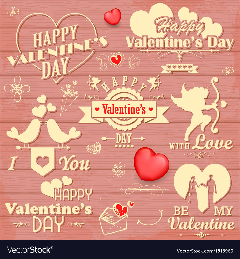 Love label for valentines day decoration vector | Price: 1 Credit (USD $1)