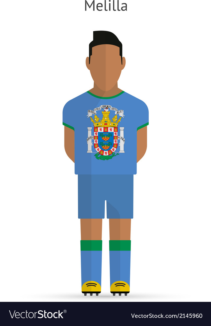 Melilla football player soccer uniform vector | Price: 1 Credit (USD $1)