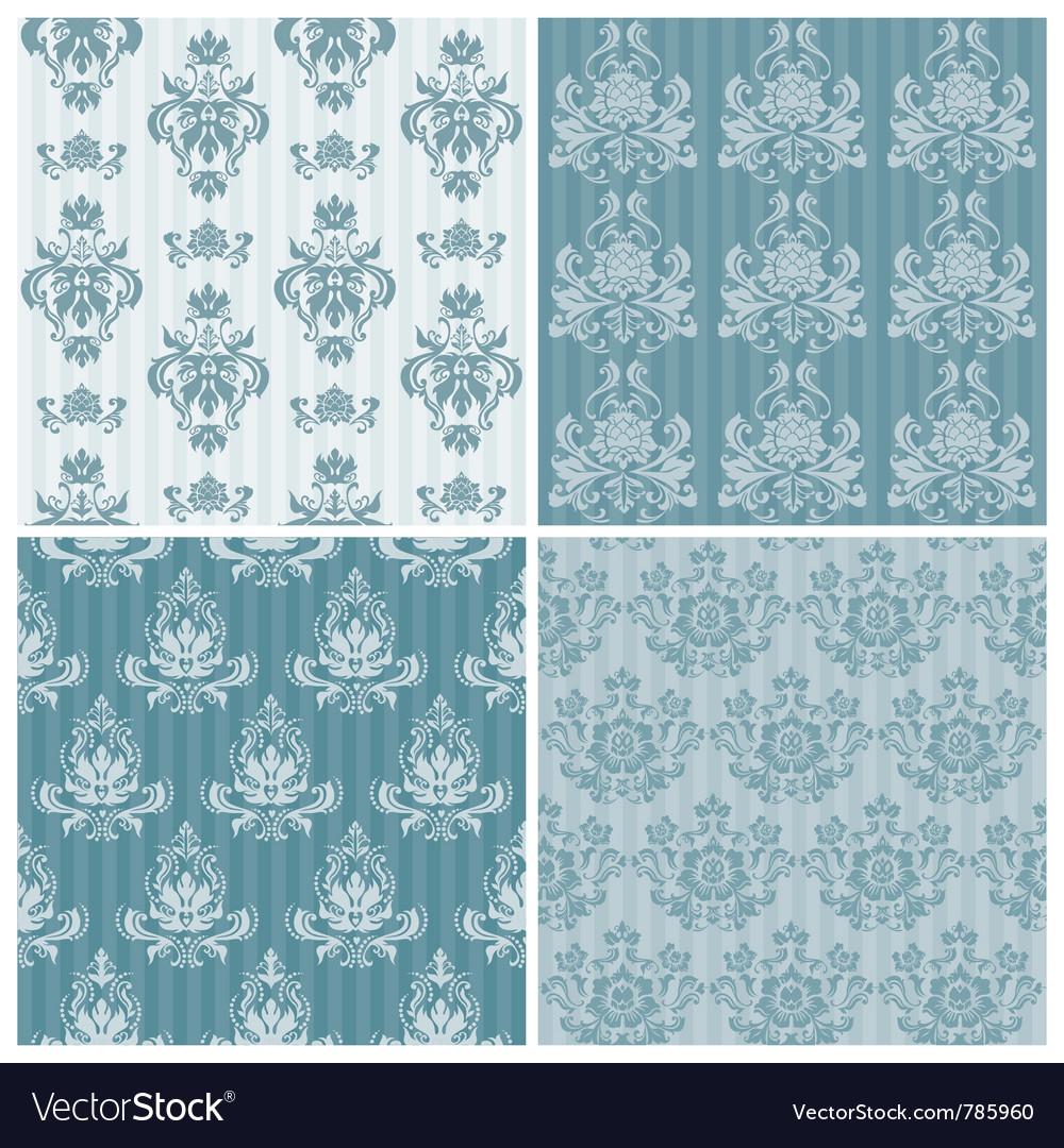 Set of ornamental damask vector | Price: 1 Credit (USD $1)