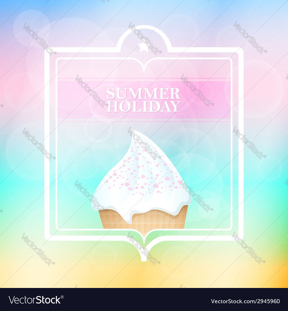 Summer holiday mint abstract background vector | Price: 1 Credit (USD $1)
