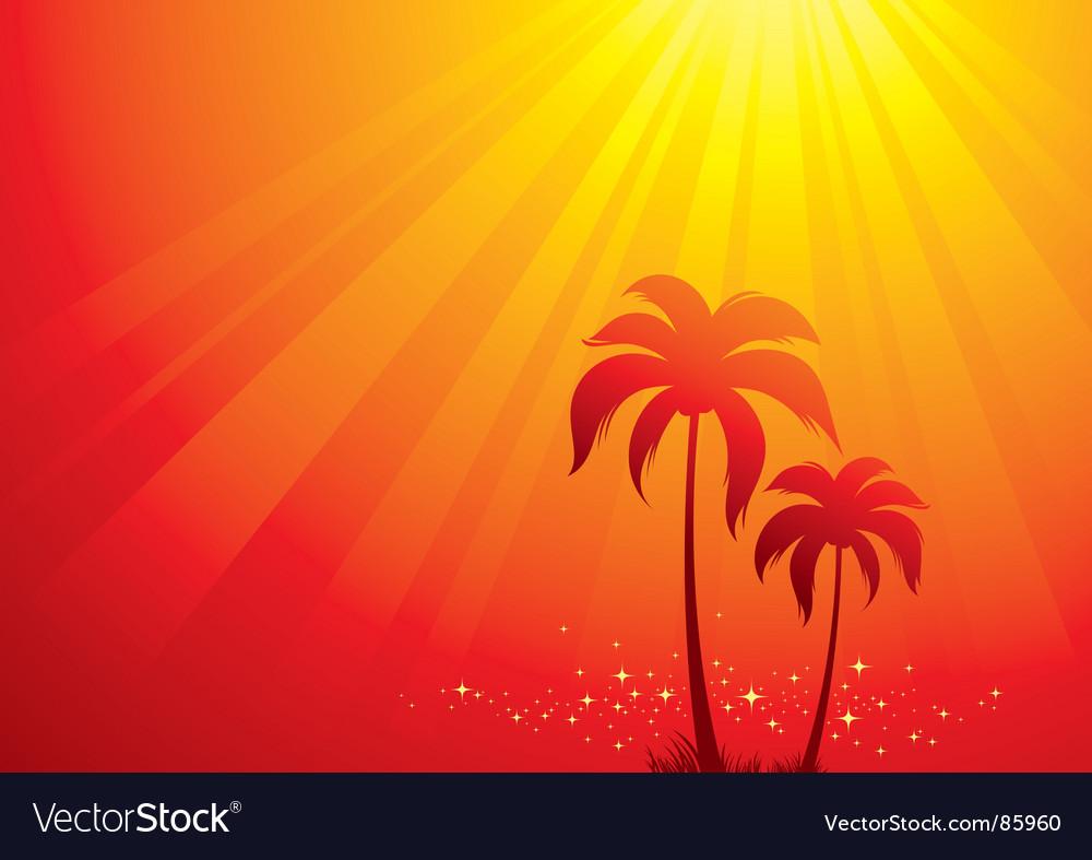 Tropical scene vector | Price: 1 Credit (USD $1)