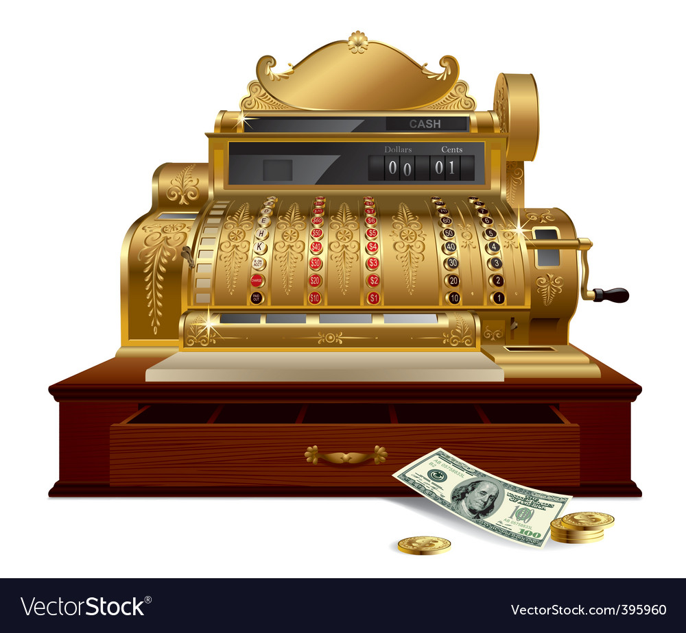Vintage cash register vector | Price: 3 Credit (USD $3)