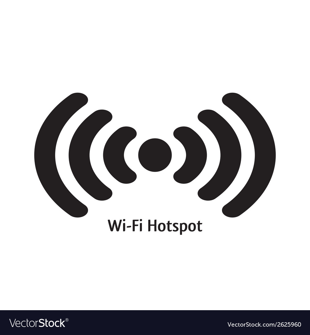 Wifi hotspot vector | Price: 1 Credit (USD $1)
