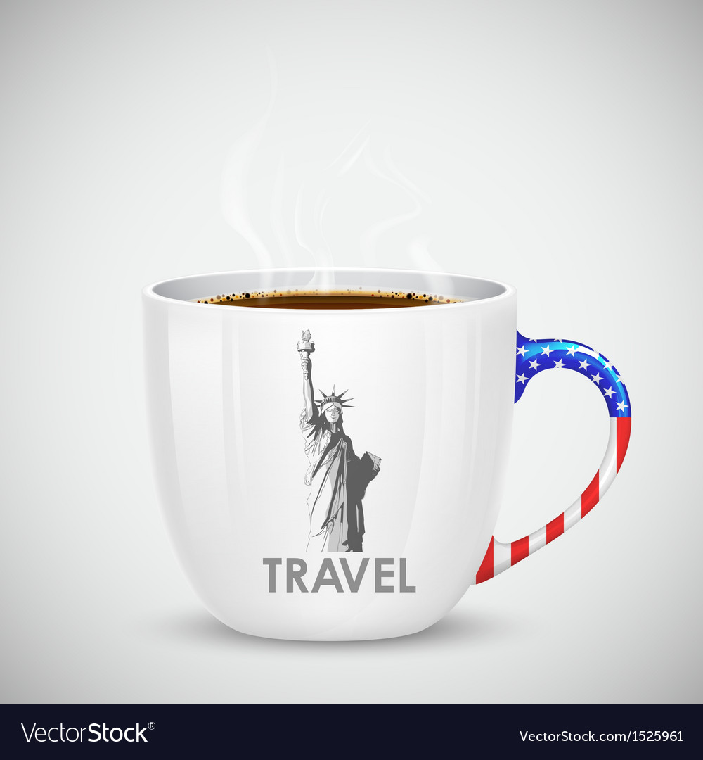 American coffee cup vector | Price: 1 Credit (USD $1)