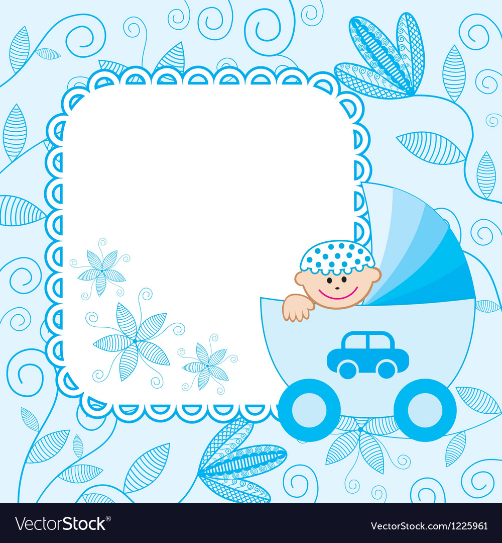 Baby boy background vector | Price: 1 Credit (USD $1)