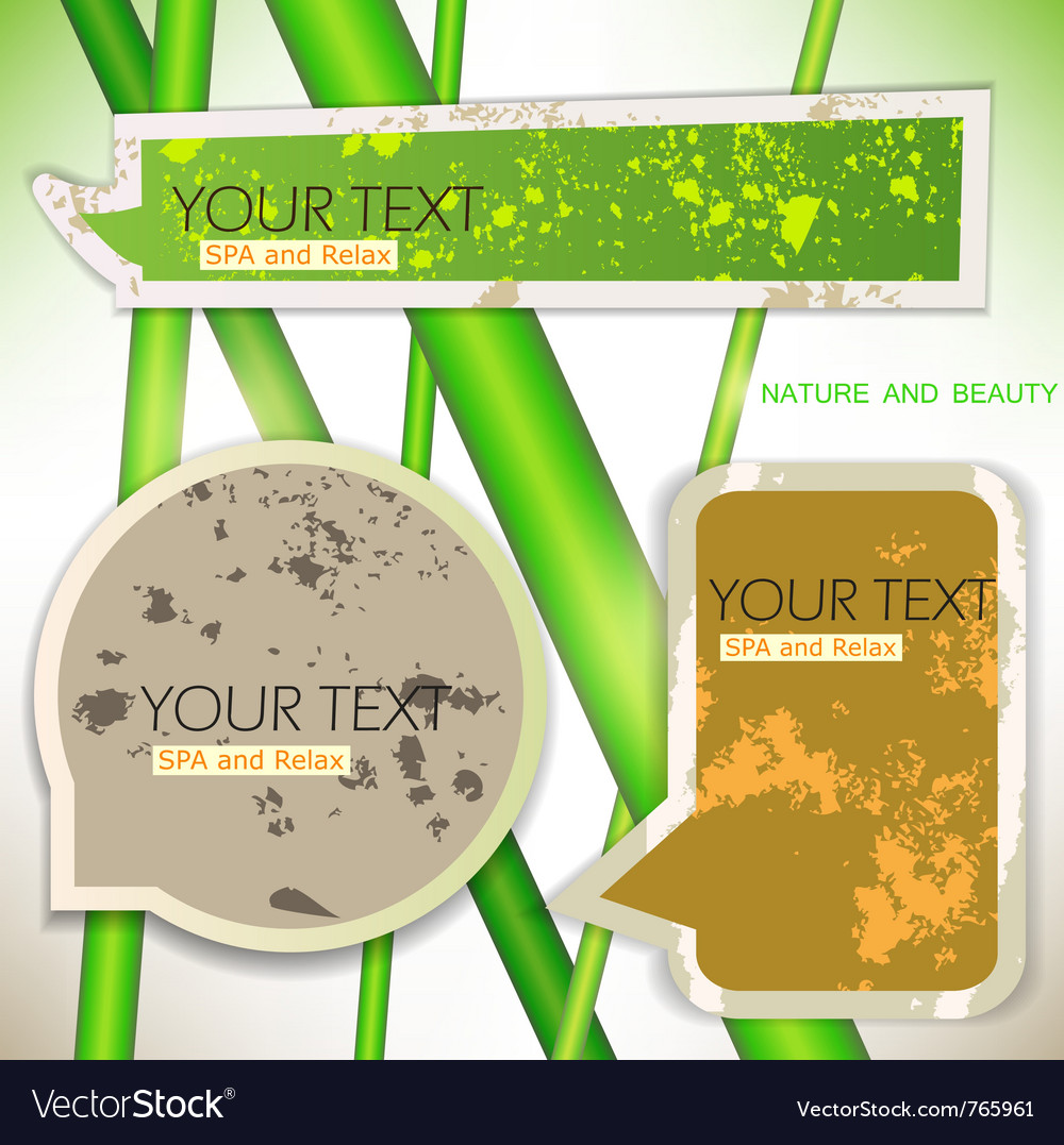 Bubbles for speech natural green background vector | Price: 1 Credit (USD $1)