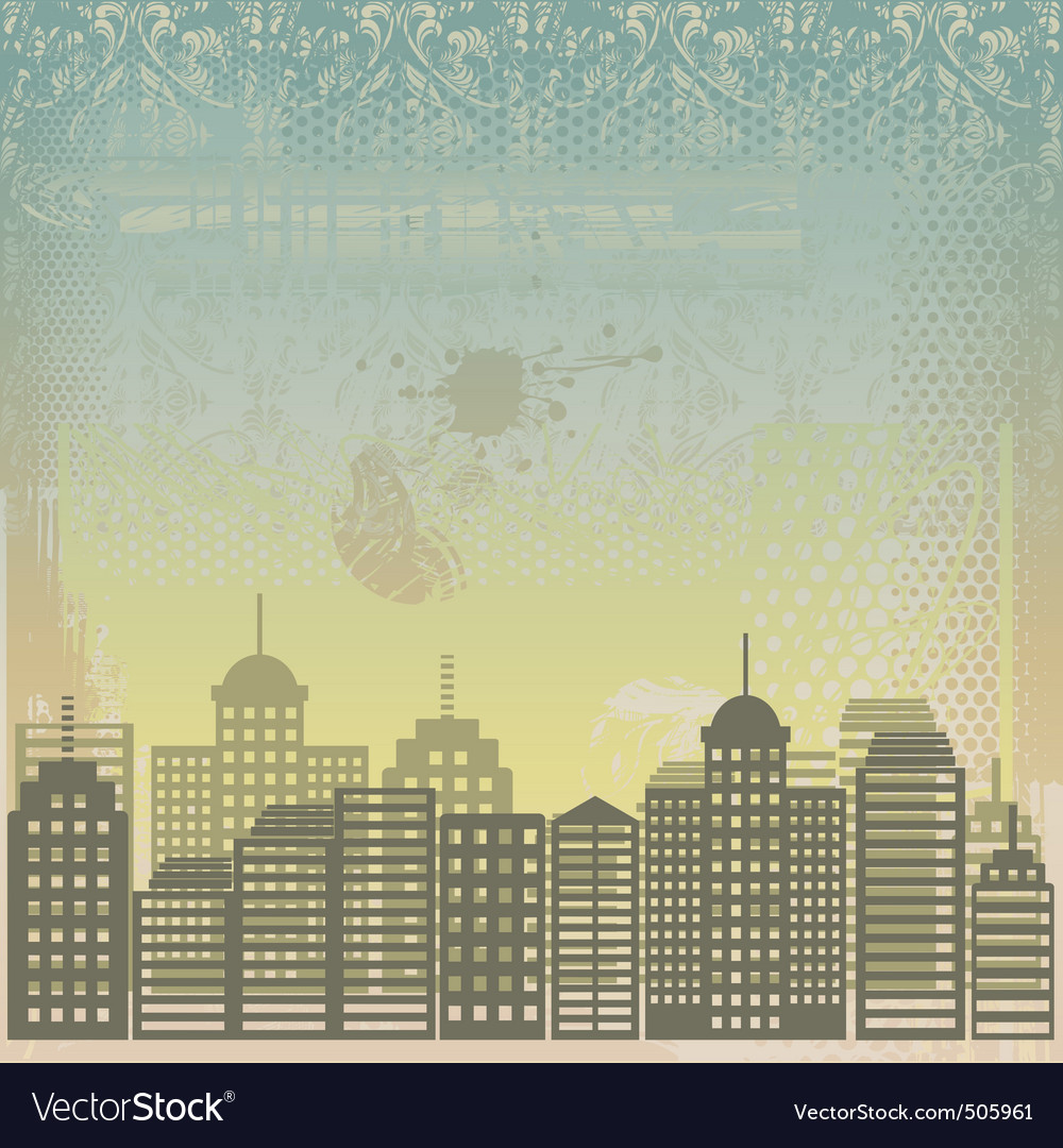 City grunge background vector | Price: 1 Credit (USD $1)