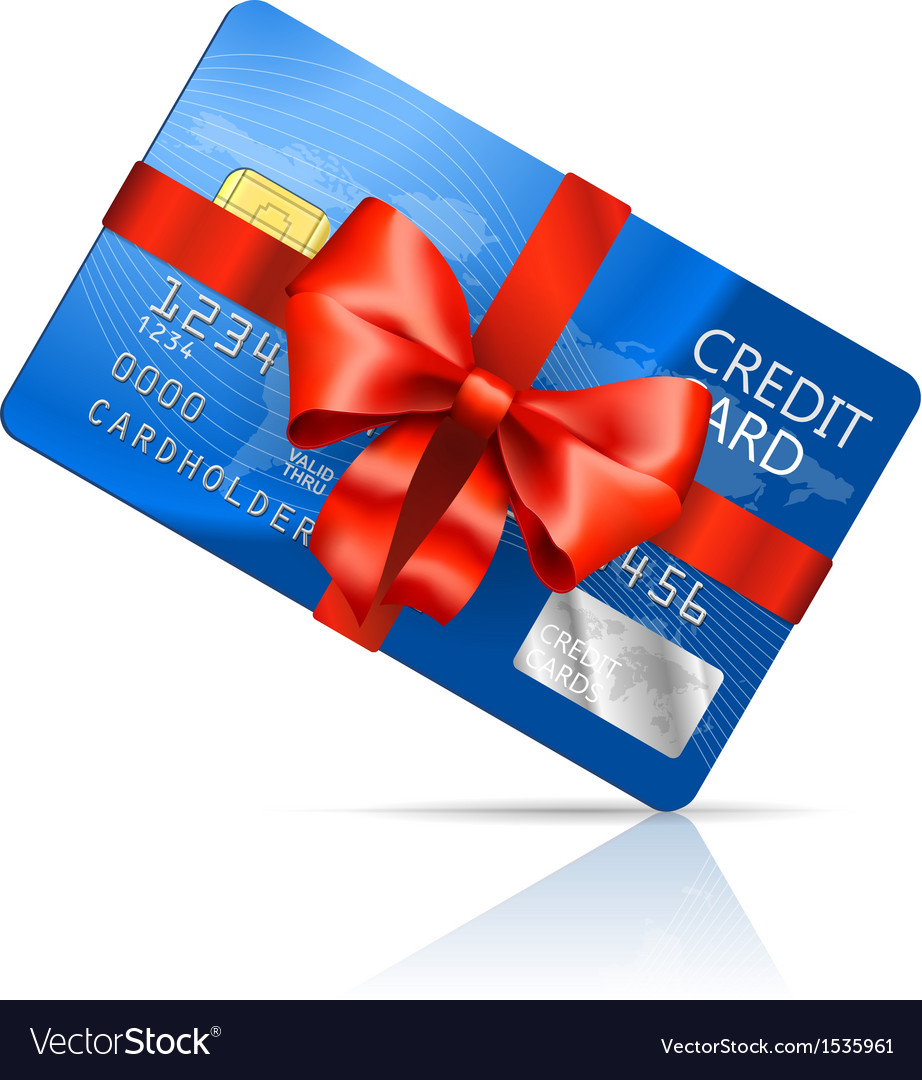 Gift credit card vector | Price: 1 Credit (USD $1)